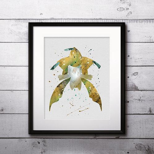 Jirachi Pokemon Anime painting, buy Art Print, buy Poster, art Print, Wall Art, Watercolor wall art print, Home Decor