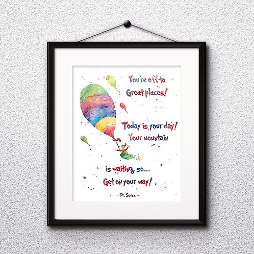 Doctor Seuss Art Prints Doctor Seuss Digital Poster Doctor Seuss Wall art print