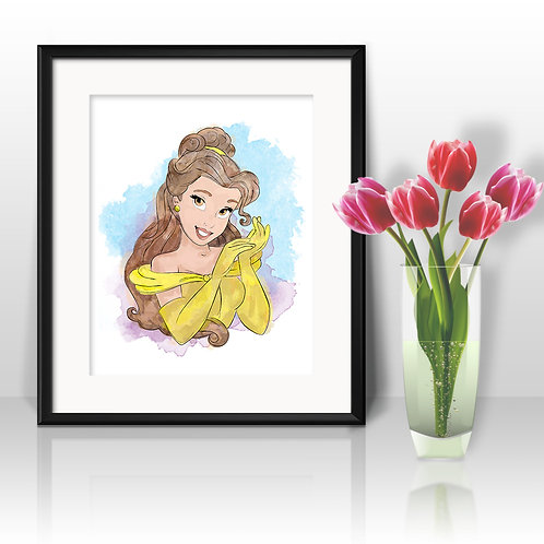 Belle Disney printables Painting, Belle art Print, Belle Disney Poster, Disney wall art, Disney art, Disney Nursery art