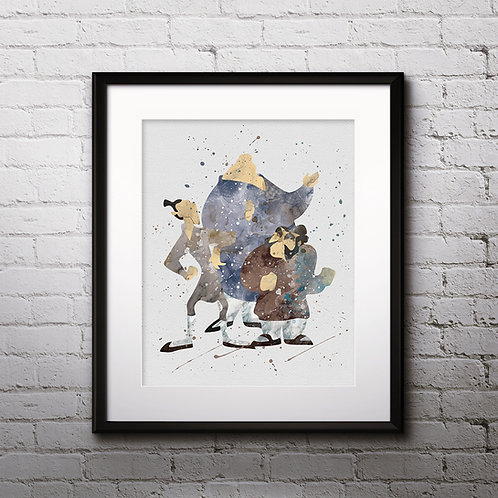 Yao, Ling and Chien Po, Mulan Disney Art, Watercolor Printable, Print, Painting, Home Decor, Wall Art Poster, buy poster, buy