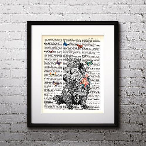 Dog vintage Dictionary Wall Art painting Home Decor mixed media art print