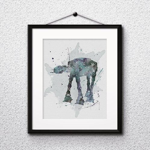 AT- AT Star Wars, Buy Star Wars Painting, Buy Star Wars Art Print, Buy Star Wars Watercolor Print, Star Wars Poster