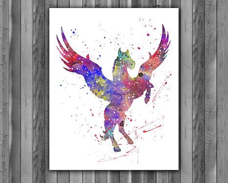 Pegasus Art, Pegasus Poster, Pegasus Painting, Pegasus Art Print, Pegasus wall Art