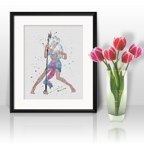 Atlantis Disney Princess Kida art, Disney Poster, Disney Painting, Disney Art Print, Disney home decor, Disney Decor
