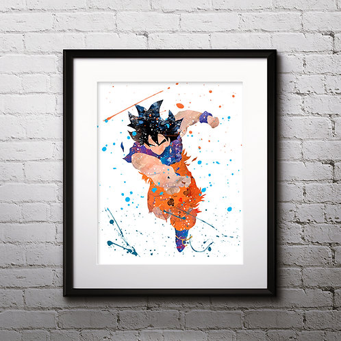 Goku from Dragon Ball Super Anime printables Painting, Goku Dragon Ball art Print, Anime Poster, Anime wall art, Anime