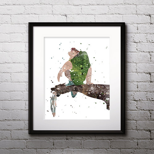 The Hunchback of Notre Dame wall art prints, printable image, poster, watercolor pinting