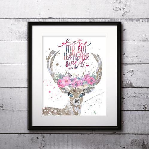 Deer Art Prints Printable Watercolor Art Print Painting Poster Home Wall Art Instant Download Art