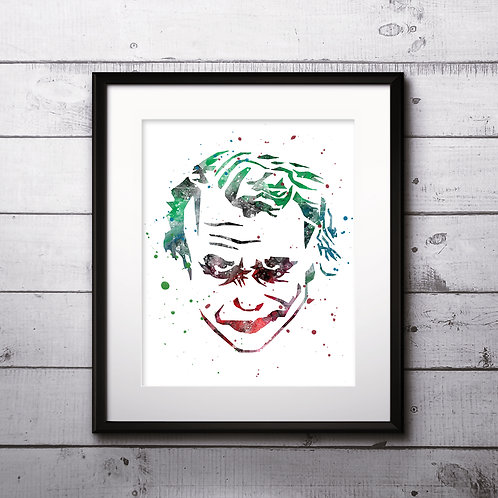 Joker Art Prints, Poster, watercolor, Painting, Art, Wall Art, Home Decor, Printables