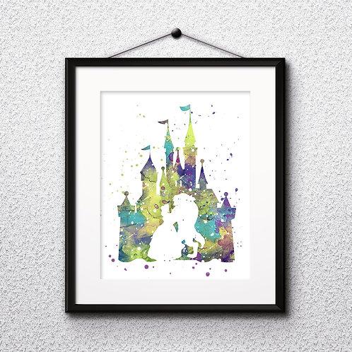 Beauty and the Beast Disney art prints, disney print, disney painting, disney art, Printable art, Disney Home Decor, Nursery