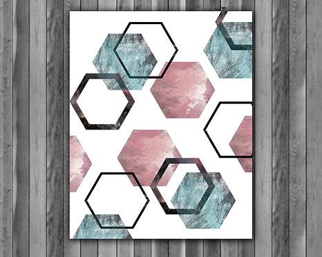 Scandinavian painting, geometric art, geometric art Print, geometric Poster, geometric home decor