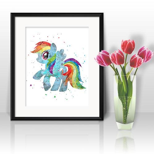 Pony Rainbow Dash Printable art, My Little Pony Art, My Little Pony Poster, My Little Pony Painting, My Little Pony art print