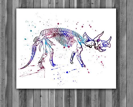 Dinosaur Watercolor Print, Dinosaurus painting, Dinosaurus art, home decor, watercolor animal, Dinosaur wall art