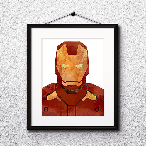 Iron Man Superhero Art, Watercolor Printable, Print, Painting, Home Decor, Wall Art Poster, buy poster, buy print