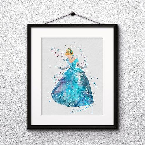 Cinderella Disney art, Cinderella Poster, Cinderella Painting, Cinderella Art Print, Cinderella home decor, Cinderella Decor