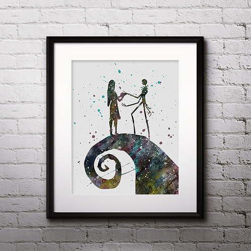 Nightmare Before Christmas painting Printable Watercolor Art, Print ,Painting, Poster, Home Wall Art, Wall Art Poster, Art