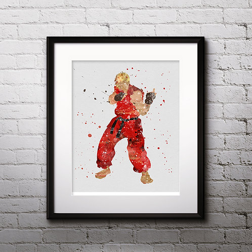 Ken Masters, Street Fighter art, Poster, Painting, buy Art Print, buy home decor, buy Wall Арт, Digital pictures download