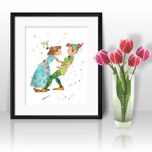 Peter Pan Disney Art Prints Instant Download Printable Watercolor Art Nursery Prints Painting Poster Home Decor Wall Art