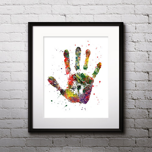 Handprint Art Prints, Poster, watercolor, Painting, Art, Wall Art, Home Decor, Printables