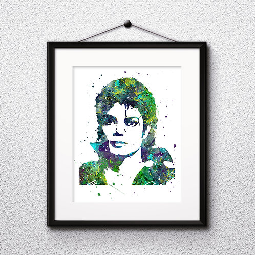 Michael Jackson Art Prints, Poster, watercolor, Painting, Art, Wall Art, Home Decor, Printables