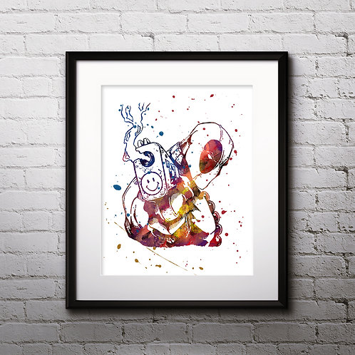 Deadpool Art Prints, Poster, watercolor, Painting, Art, Wall Art, Home Decor, Printables
