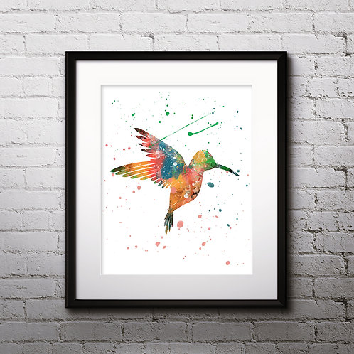 Colibri Hummingbird Art Printable, buy Art Print, buy digital image, buy watercolor, buy painting, buy wall art, buy poster