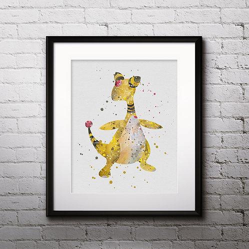 Ampharos Pokemon Anime art prints, Pokemon Anime wall art, Pokemon Anime watercolor painting, Pokemon Anime art