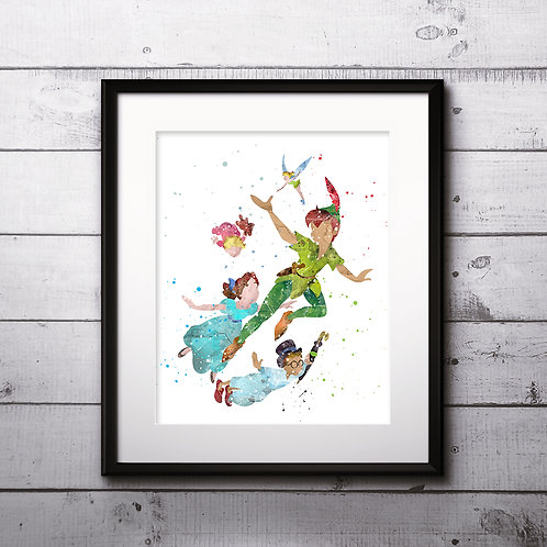 Peter Pan Disney Art Prints Instant Download Printable Watercolor Art Nursery Prints Painting Poster Home Decor Wall Art