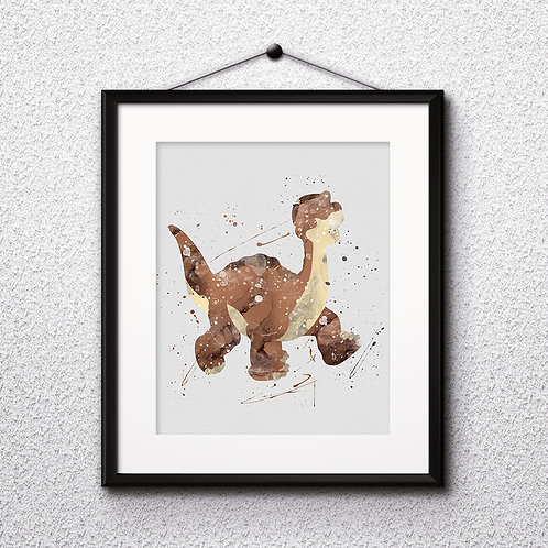 Littlefoot Disney art, Disney Poster, Disney Painting, Disney Art Print, Disney home decor, Disney Decor, Disney wall art