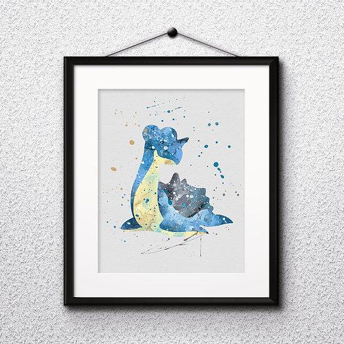 Pokemon Lapras Art, Watercolor Printable, Print, Painting, Home Decor, Wall Art Poster, buy poster, buy print