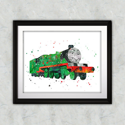 Henry - Thomas the Tank nursery art print, Wall Art, Poster,  Painting, Home Decor, Watercolor Print, Watercolour Print