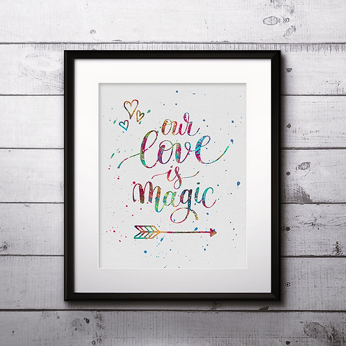 love quote. Inspirational motivational Valentines day romantic handwritten quote art print. Hand drawn typography poster.