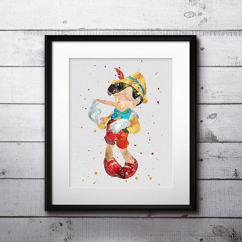 Pinocchio Disney Art Prints Instant Download Printable Watercolor Art Nursery Prints Painting Poster Home Decor Wall Art