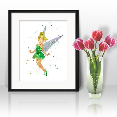 Disney Tinker Bell art Prints, Tinker Bell Posters, Tinker Bell watercolor