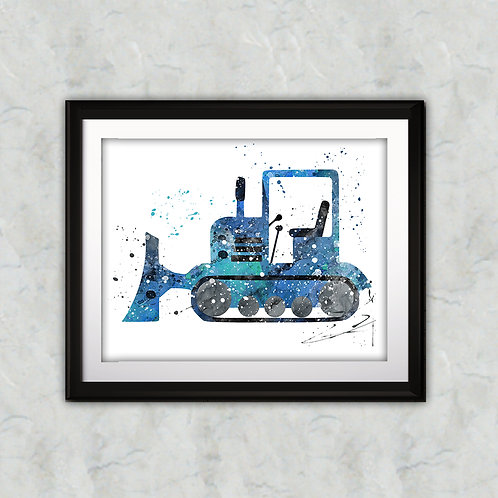 Truck Art Print, Nursery Wall Art, Truck Decor, Truck Wall Art, Truck Wall Decor, Truck Nursery