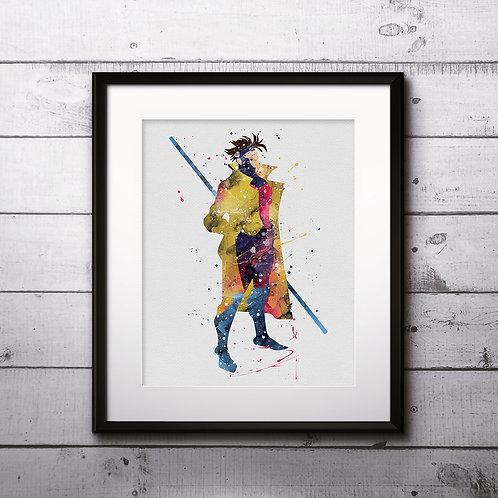 Gambit Poster, Marvel Comics Painting - watercolor, Art Print, instant download, Watercolor Print, poster