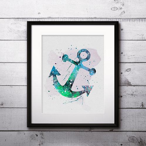 Anchor Art, Anchor Watercolor, Anchor Print, Anchor Poster, Anchor Home Decor, Anchor Painting, Anchor Wall Art