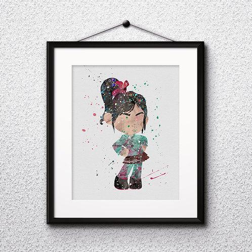 Vanellope - Wreck-It Ralph Disney art, Disney Poster, Disney Painting, Disney Art Print, Disney home decor, Disney Decor, Dis
