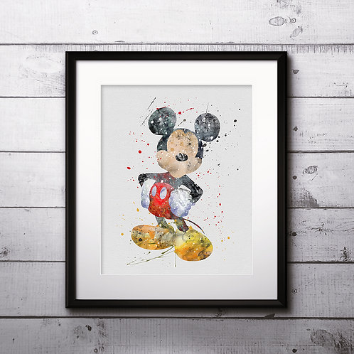 Mickey Mouse Disney Watercolor Painting, Mickey Mouse art Print, Mickey Mouse Poster, Mickey Mouse home decor, Mickey Mouse
