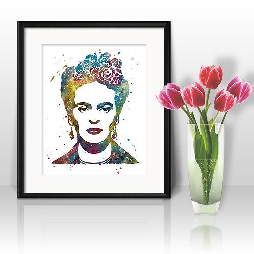 Frida Kahlo Art Prints, Poster, watercolor, Painting, Art, Wall Art, Home Decor, Printables