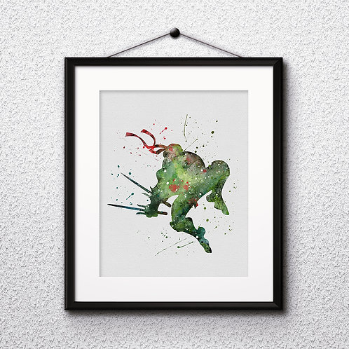 Ninja Turtles Instant Dowload, Ninja Turtles Watercolor, Ninja Turtles Art Print, Ninja Turtles Painting, Ninja Turtle Poster