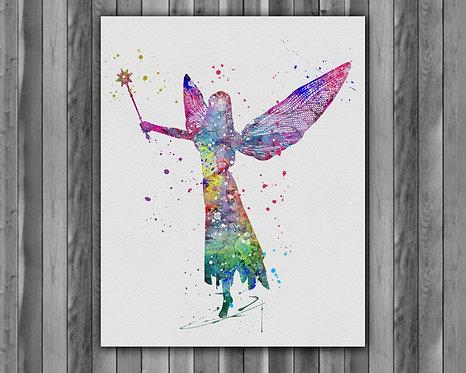 Fairy printables Painting, Fairy art Print, Fairy Poster, Fairy wall art, Fairy art, Fairy Nursery art, Fairy Nursery
