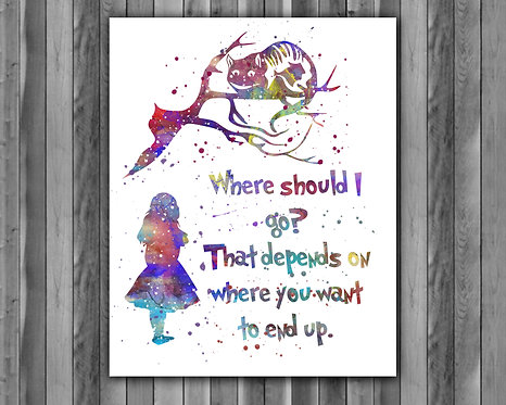 Alice in Wonderland art, Alice in Wonderland art print, Alice in Wonderland print, Alice in Wonderland poster, Alice art