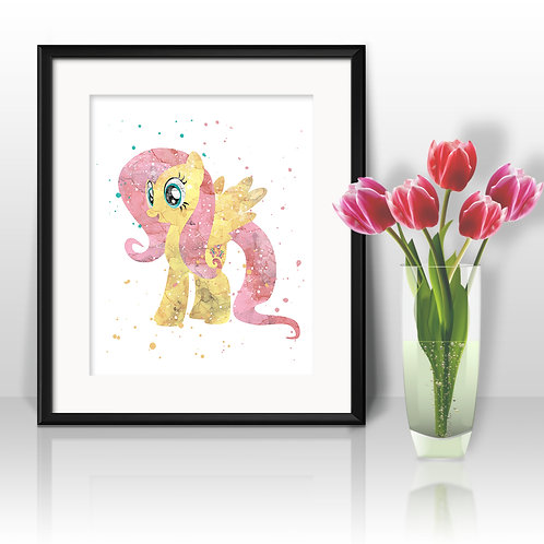 Fluttershy My Little Pony art print, My Little Pony Art, My Little Pony Poster, My Little Pony Painting, My Little Pony Print