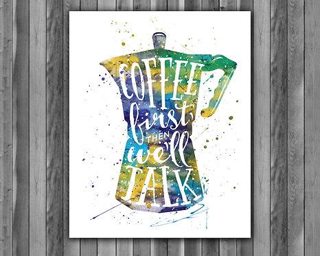 Kitchen Instant Dowload, Kitchen Watercolor, Kitchen Art Print, Kitchen Painting, Kitchen Poster, Kitchen Wall Art
