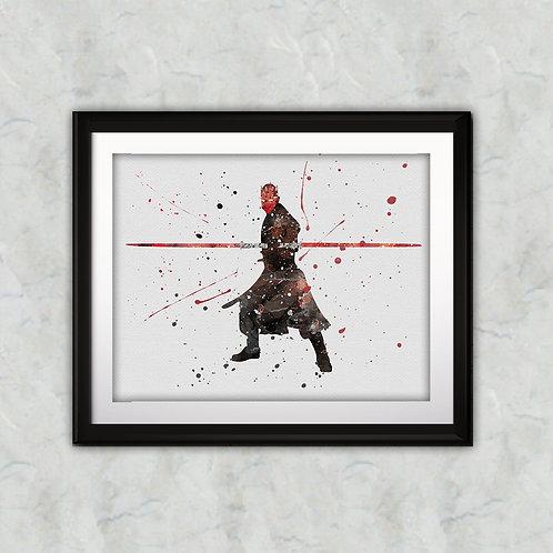 Star Wars Darth Maul Art, Star Wars Poster, Star Wars Painting, Star Wars Wall Art, Star Wars art print