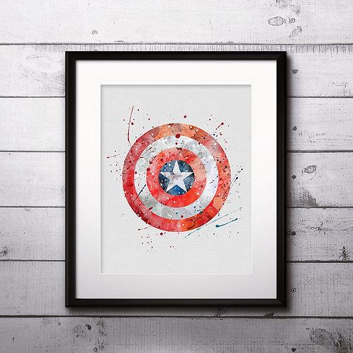 Captain America Superhero art, Superhero Poster, Superhero Painting, Superhero Art Print, Superhero Wall Art, Superhero decor