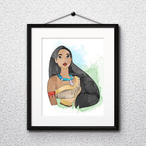 Pocahontas Disney printables Painting, Pocahontas art Print, Pocahontas Poster, Disney wall art, Disney art, Pocahontas art