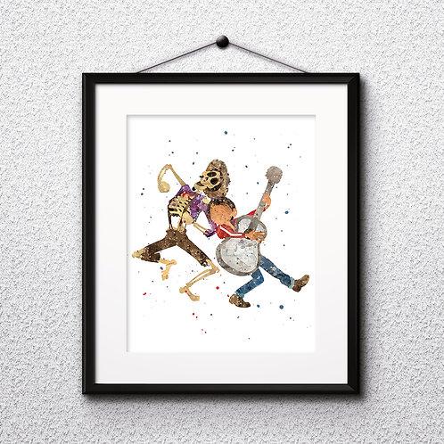 Disney Coco Art Prints, Poster, watercolor, Painting, Art, Wall Art, Home Decor, Printables