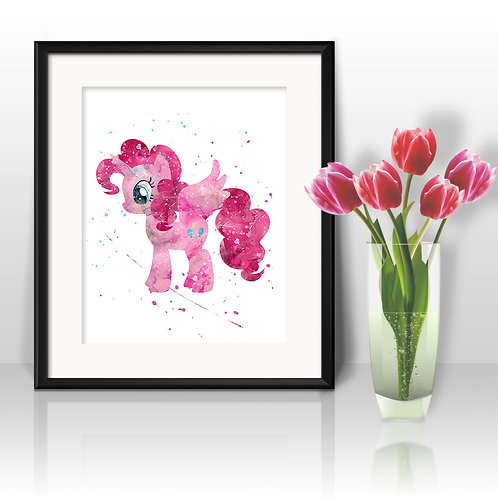 Pinky Pie My Little Pony art print, My Little Pony Art, My Little Pony Poster, My Little Pony Painting, My Little Pony Printa