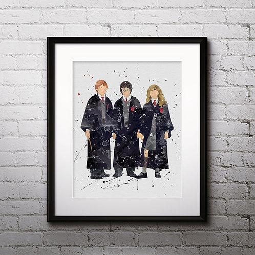 Harry Potter Art, Harry Potter Poster, Harry Potter Painting, Harry Potter Art Print, Harry Potter Wall Art, Harry Potter